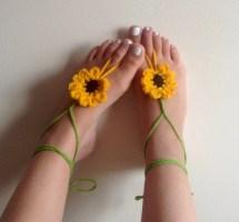 Barefoot Sandals Crochet Flower