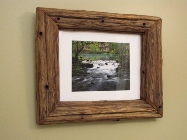 11x14 Log Frame Pine Driftwood Alley Spring