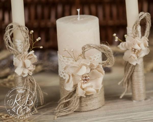Personalized Wedding Candle Unity Ceremony Pillar