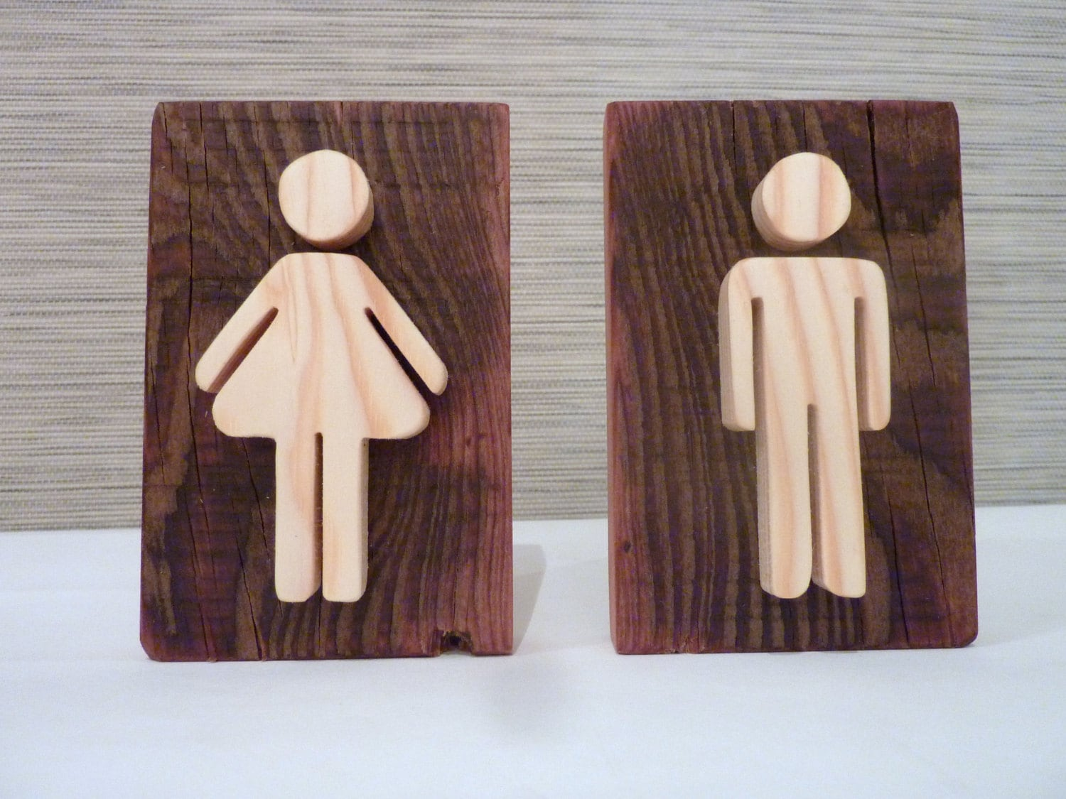 Restaurant bathroom sign wooden decor for restaurant public