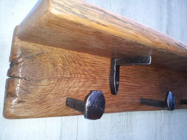 Wood Wall Mounted Coat Rack with Shelf