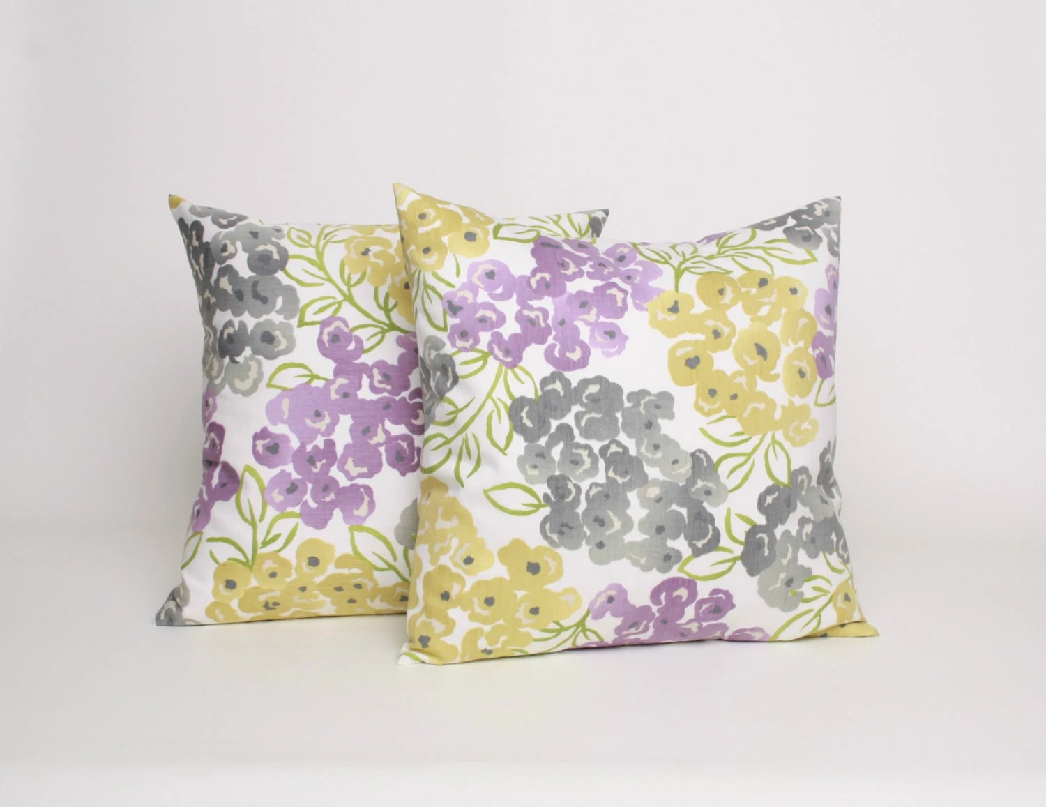 18x18 Throw Pillow Set Of 2 Gray Purple And By