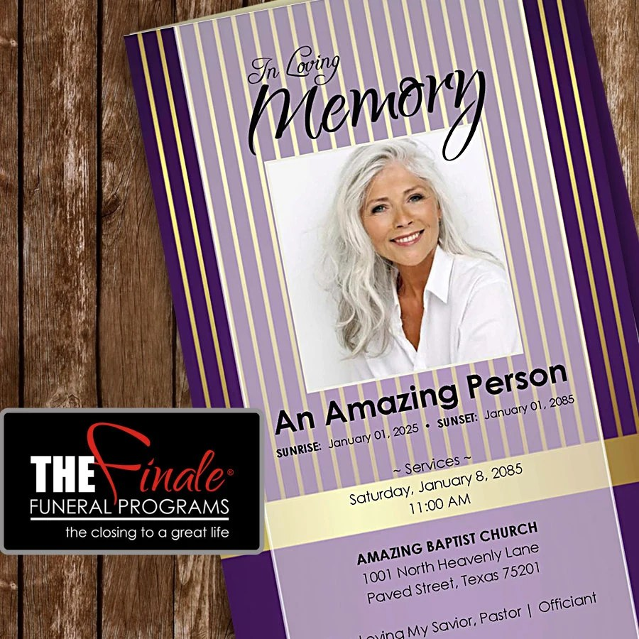 REGAL PURPLE Amp GOLD Printable Funeral By TheFinaleFnrlPrgrms