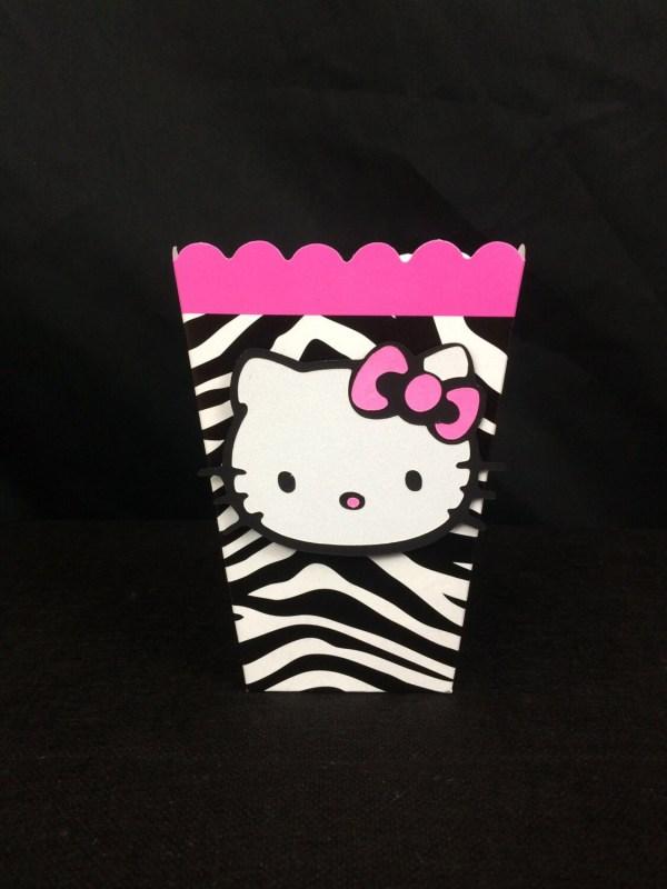 Kitty Inspired Zebra Favor Boxes Set Of 8 Loveemilee