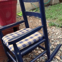 Navy Rocking Chair Director Covers Ebay Australia Baby Toddler Blue Distressed By