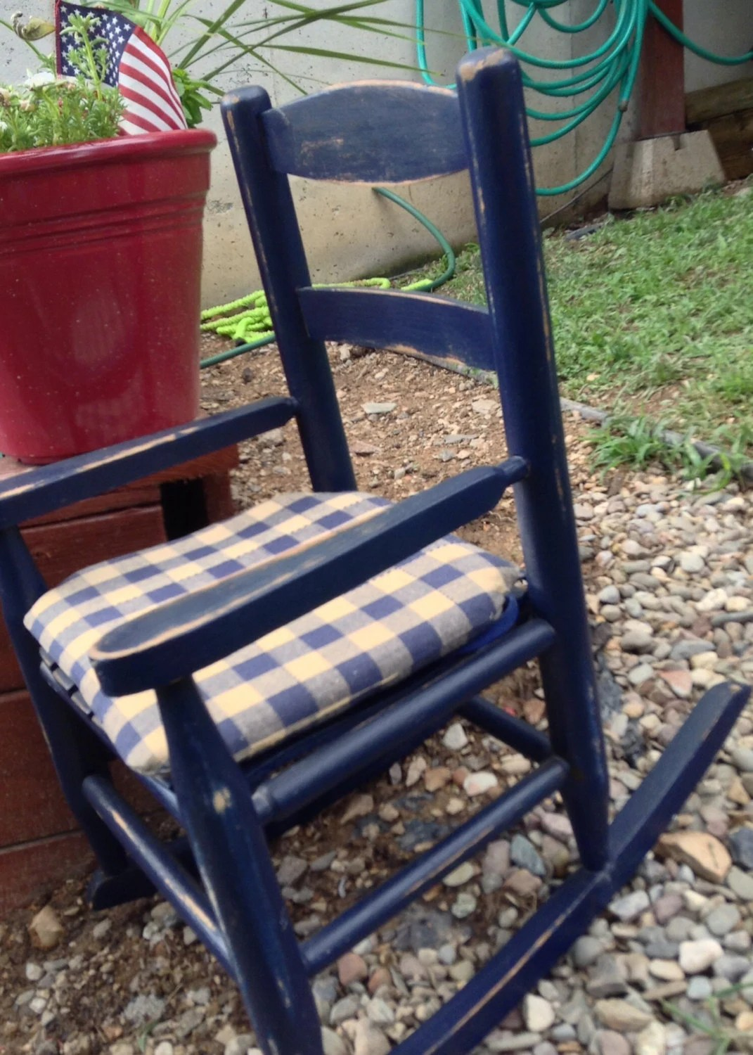 Navy Rocking Chair Baby Toddler Rocking Chair Navy Blue Distressed By