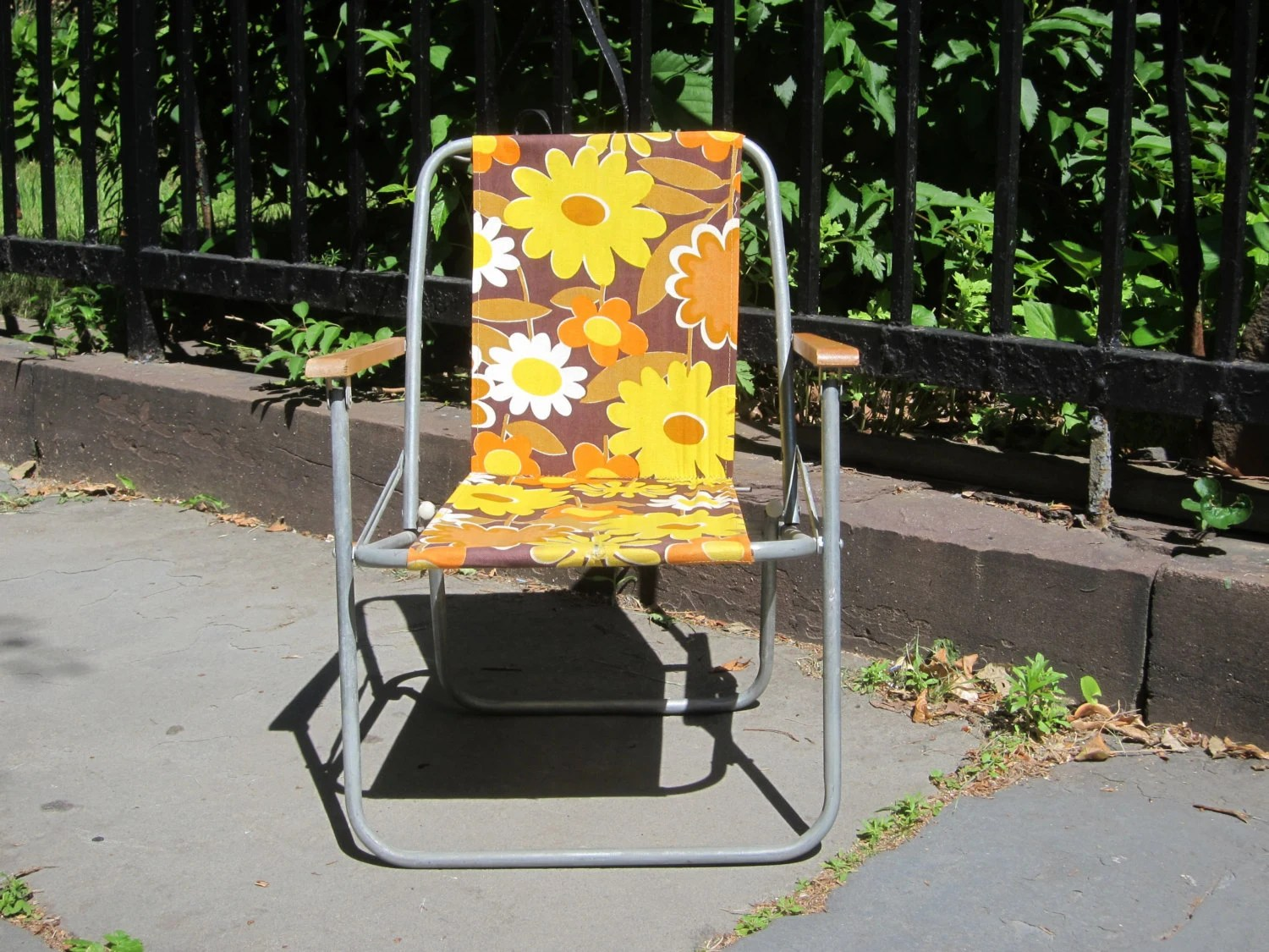 antique beach chair or stool crossword clue vintage kids folding lawn porch yellow