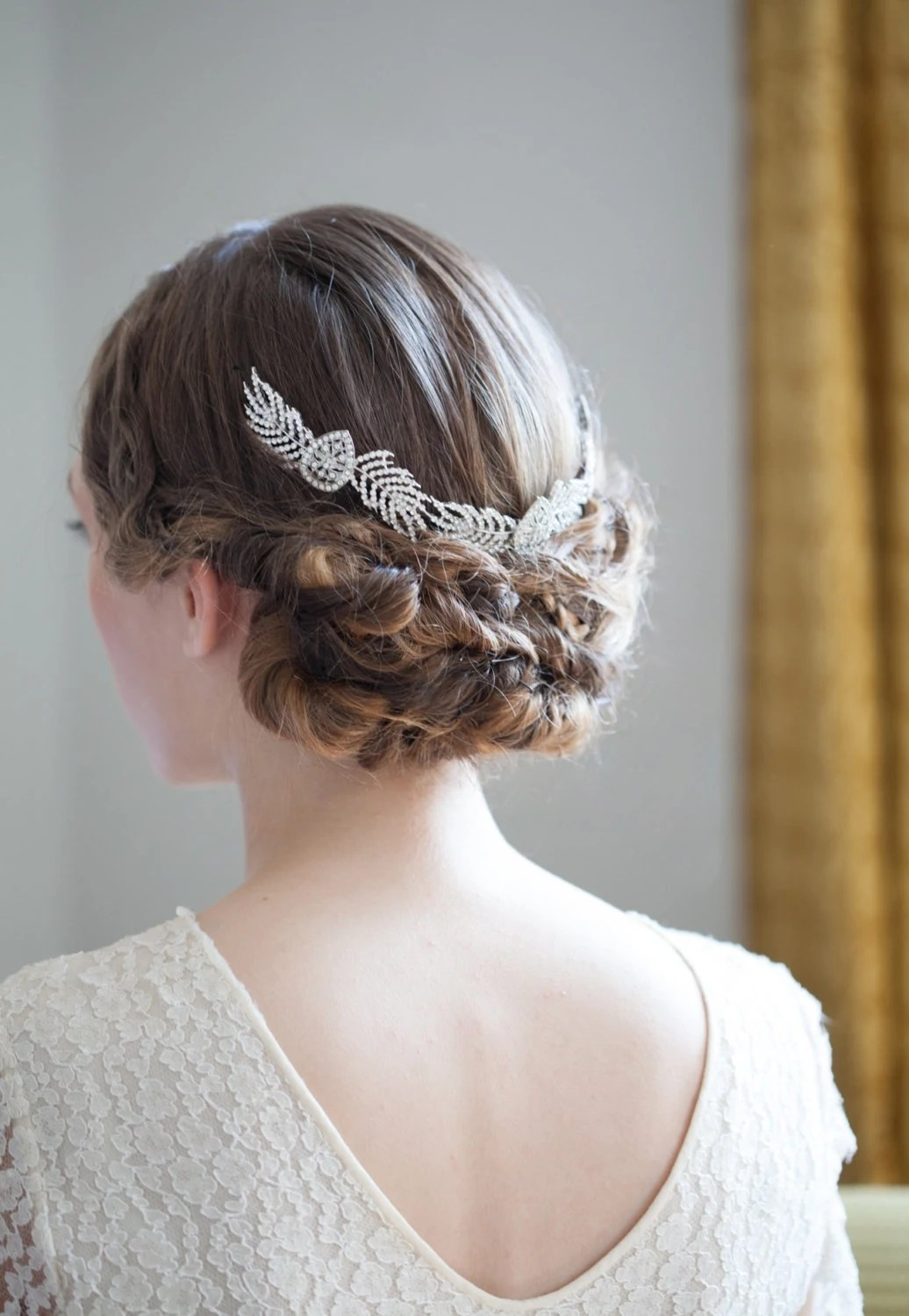 Grecian Bridal Headpiece Art Deco Wedding Hair Accessory