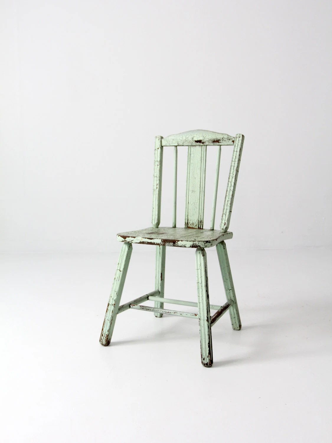Mint Accent Chair Reserve Primitive Wood Chair Antique Mint Green Chair