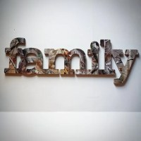 Family Sign Wall Decor in RealTree Camo - Great for a ...
