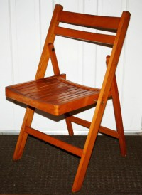 Items similar to Antique Wood Folding Chairs - Mid Century ...