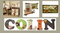 Woodland Themed Personalized Children's Wood Letters by ...