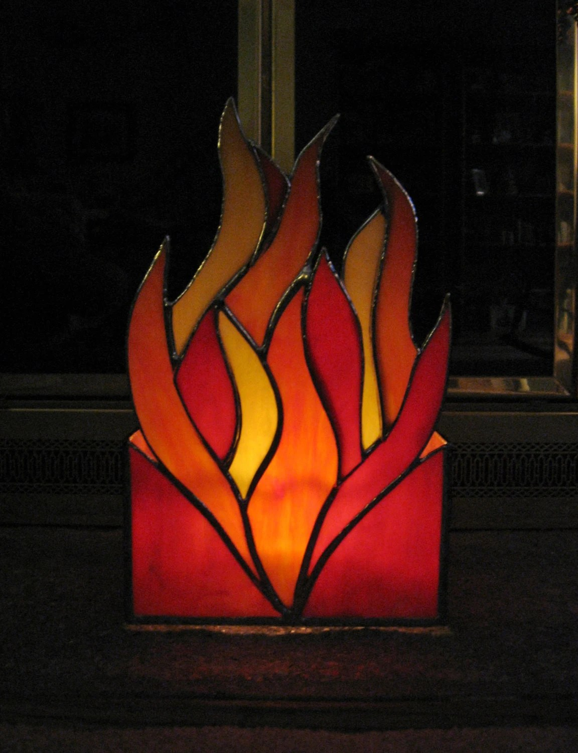 Candle Holder Stained Glass Votive Holder Fireplace