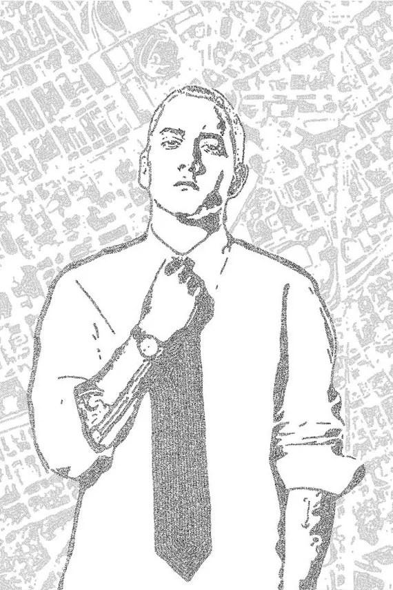 Eminem Lyric Poster Print 24x36 Handmade with Lyrics