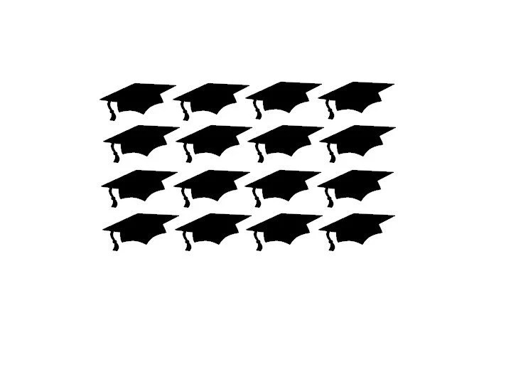 2018 Graduation Cap StickersVinyl Grad CapsGraduation