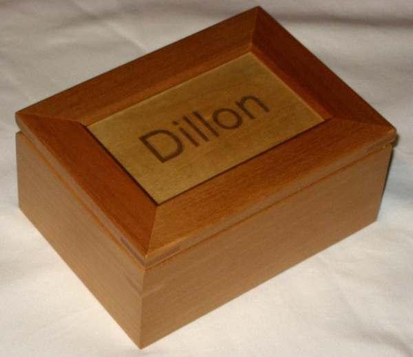 Custom Engraved Wooden Keepsake Box