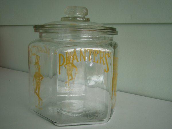 Vintage 1930' Planter' . Peanut Jar