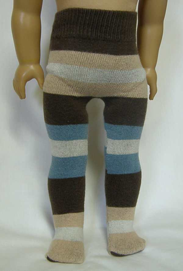 Brown & Blue Striped Tights 18 American Girl Doll