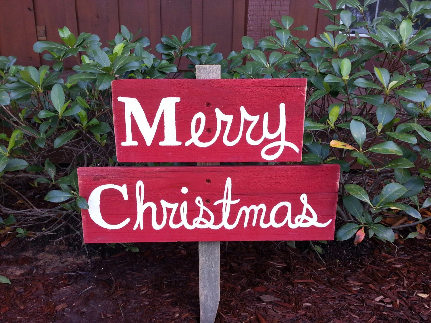 Merry Christmas Sign. Yard Ornament Welcome Sign Gift Lawn
