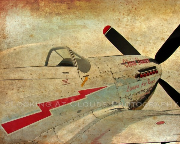 P51 Airplane Art Aviation -51 Mustang Vintage