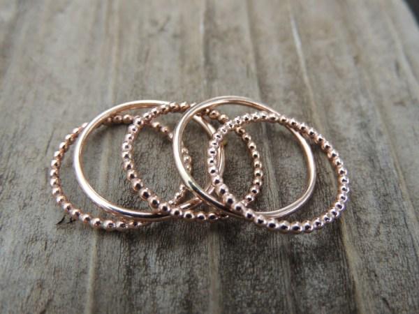 14k Rose Gold Stackable Rings Band Treasureimports