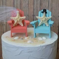 Adirondack Chair Cake Topper European Touch Pedicure Beach Wedding Chairs