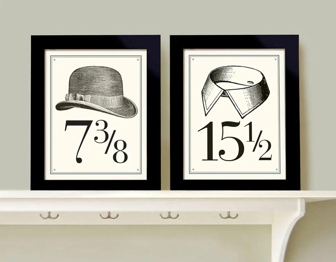 Wall Art for Men Bedroom Decor Set of Two Prints Bathroom Art