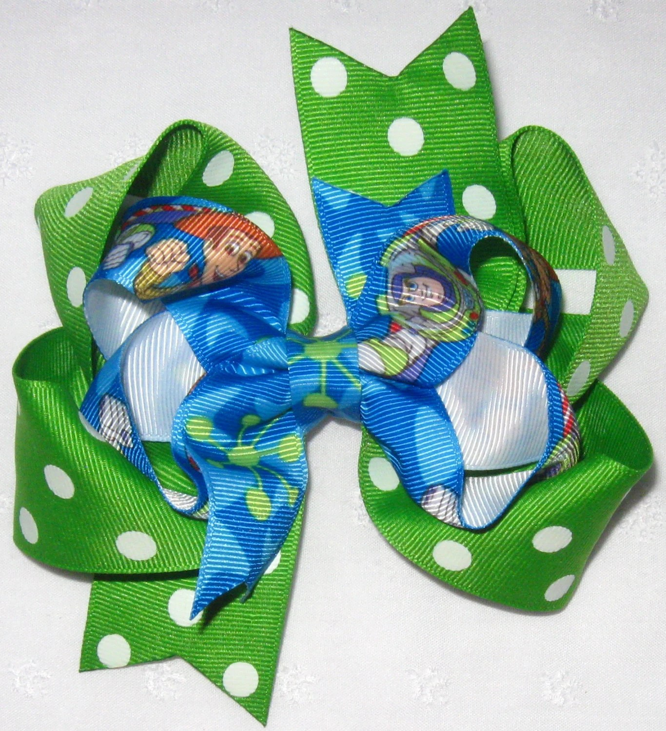 Toy Story Woody Amp Buzz Lightyear On Green Polka Dot Extra