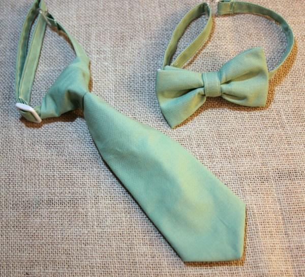 Sage Green Neck Tie Bow Bowtie Baby Infants