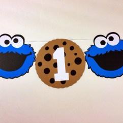 Cookie Monster Chair Metal Armchair Sesame Street High Banner