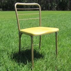 Folding Chair Yellow Adirondack Set Mid Century Gatefold Retro