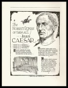 Julius CAESAR, The Noblest Roman of Them All - General, Statesman, Consul, Author, Original 1933 Book plate