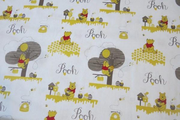 Winnie Pooh Fabric 100 Cotton Beautymefashion