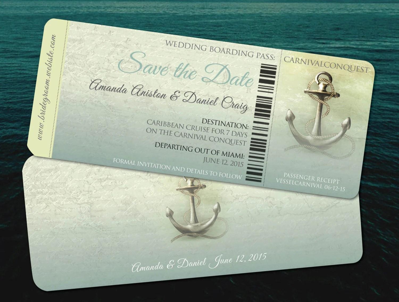 Save the Date Destination Cruise Wedding  Aqua Teal Travel