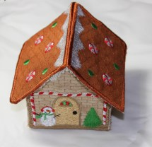 3D Gingerbread House Embroidery Designs