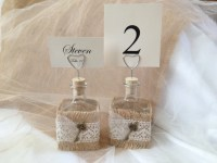 Items similar to Wedding Table Number Holders- Vintage for ...