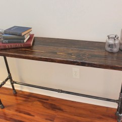Long Sofa Bar Table Asda Direct Beds Steel And Pine Wood Console