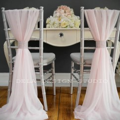 Chair Pad Covers Wedding Gaming Under 100 Chiffon Cover Sash Pale Pink