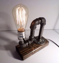 Industrial pipe lamp Fathers day-Unique table lamp ...