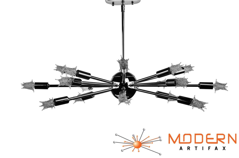 Sputnik Atomic Starburst Light Lamp Chandelier Mid Century