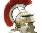 Antique Hand Made brass, steel and horse hair Replica Roman Centurion Helmet Prop