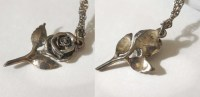 James Avery Retired Style Rose Necklace and by