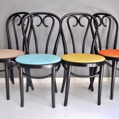 Retro Cafe Dining Chairs Chair Covers Price Vintage Bentwood Set Of Four Thonet Style