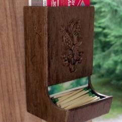 Green Apple Kitchen Decor Contemporary Vintage Wooden Match Holder Country By Theoddoldtriedntrue