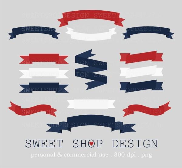 Ribbon Clip Art Banner Digital