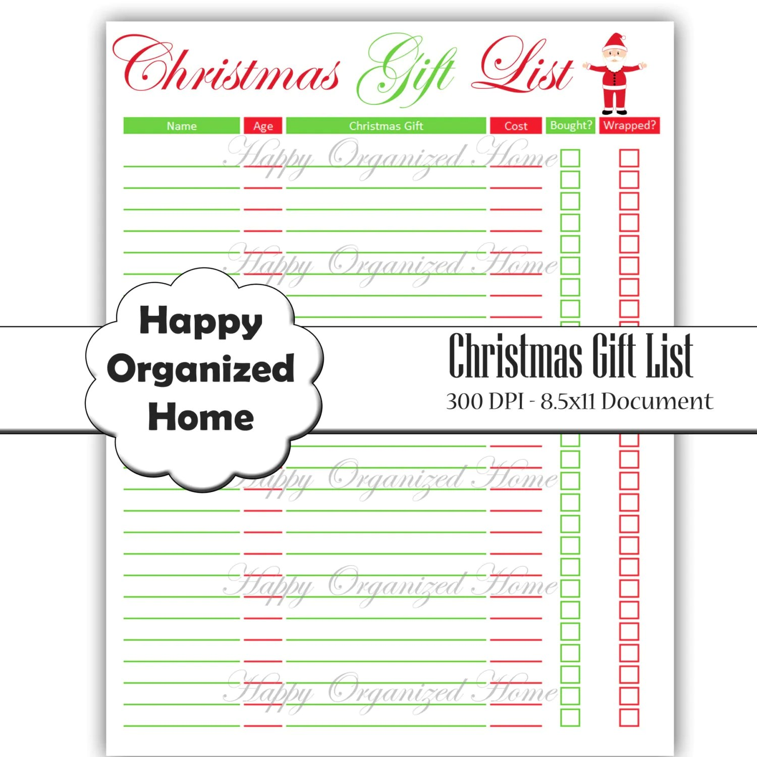 Christmas T Planner Printable By Happyorganizedhome