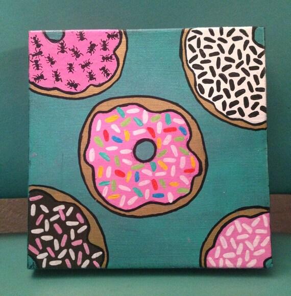 Anthropodonut 8x8 donut painting