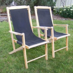 Sling Folding Chairs Chair Design Pdf Vintage Wooden Canvas Deck