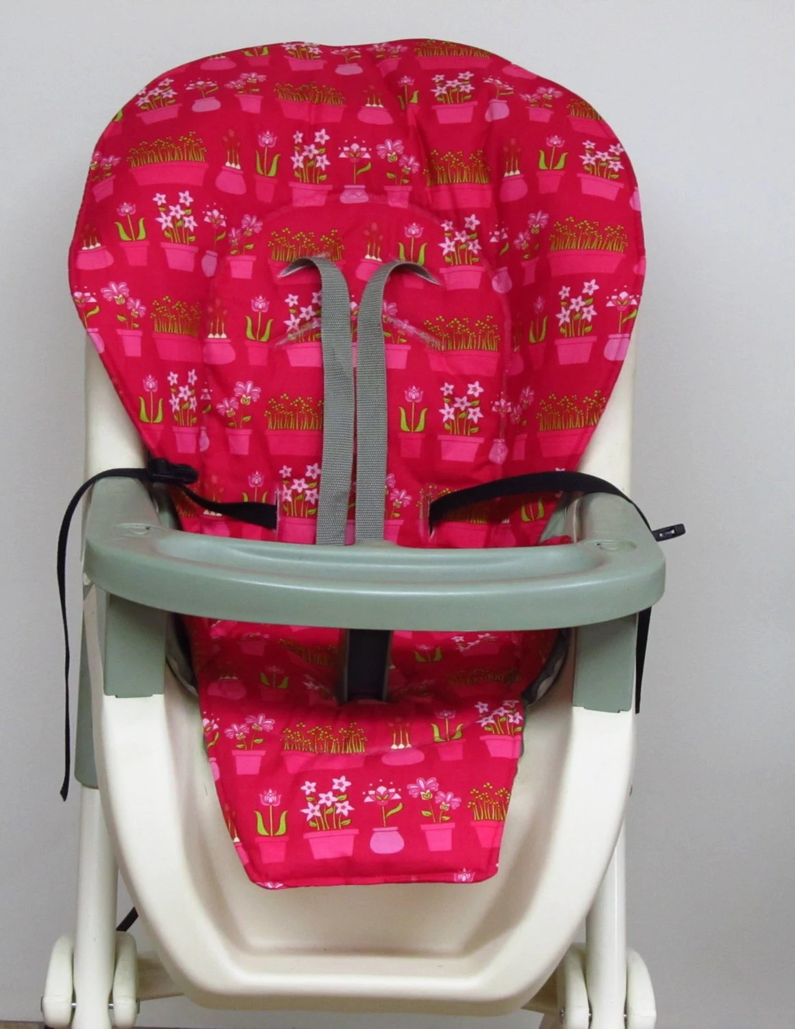 stokke high chair cushion sewing pattern folding picnic chairs b q graco cover pad replacement hot pink flower pot