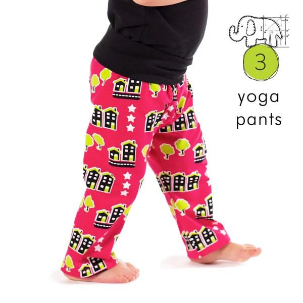 Kids Yoga Pants Pdf Pattern Tutorial Preemie-6t